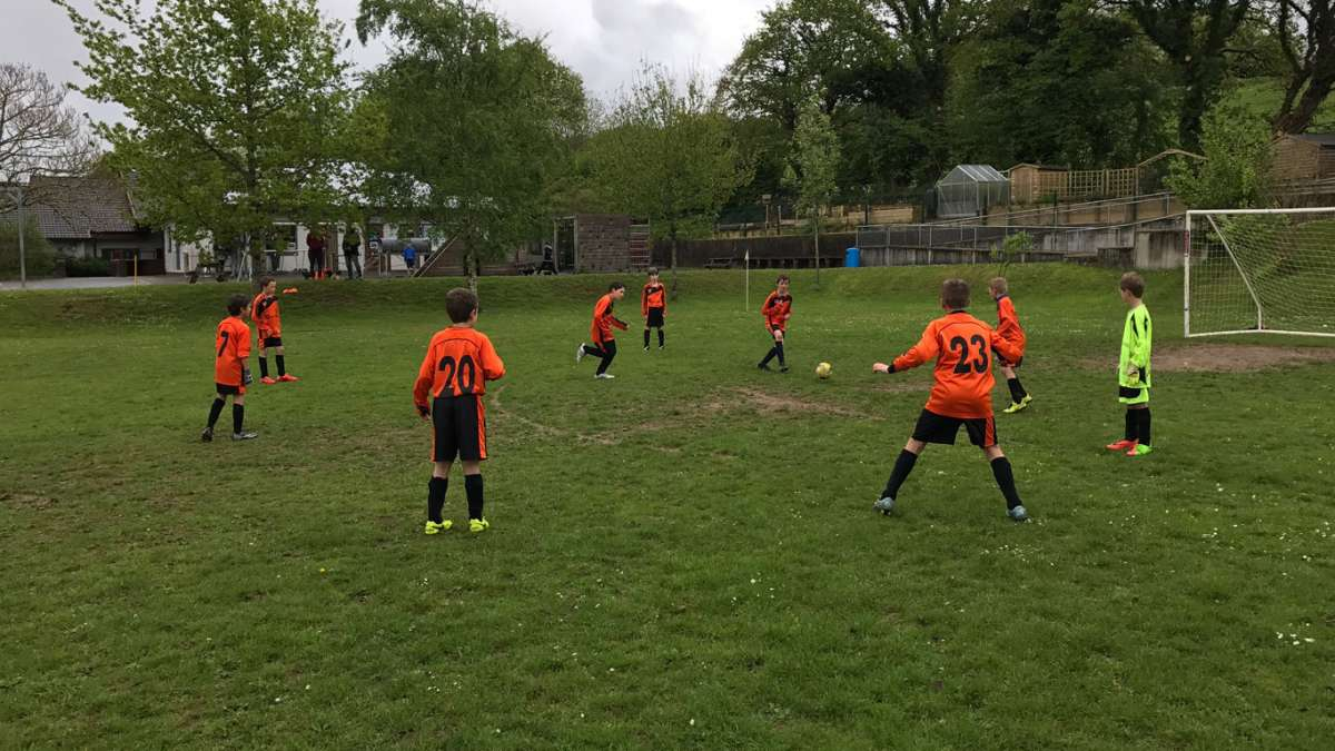 Lydford Foxes playing in Horrabridge